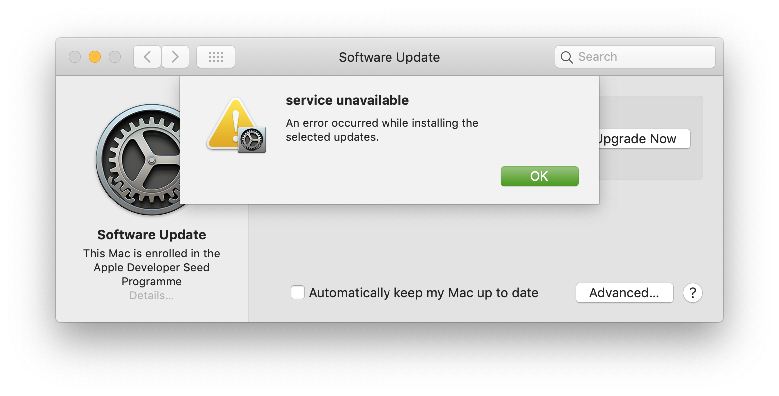 """How to fix macOS """"update package has been deleted"""" errors"""