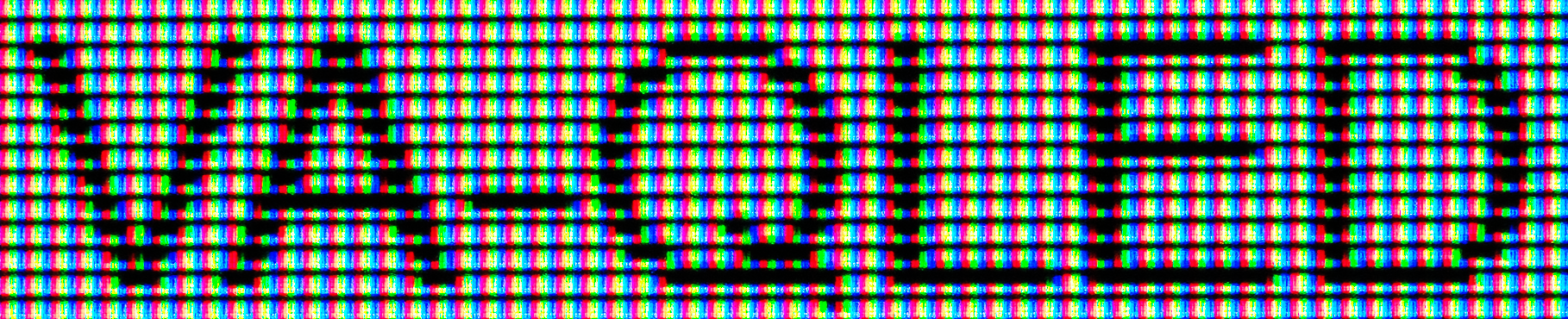 Text rendering doesn't look too good on VA-QLED display panels