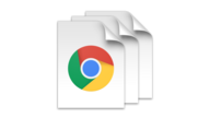 A stack of three files with the Chrome icon on them.