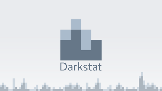 The Darkstat logo with bandwidth usage bar charts in the background.