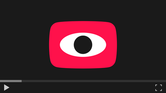 Video player with a play button looking back at you.