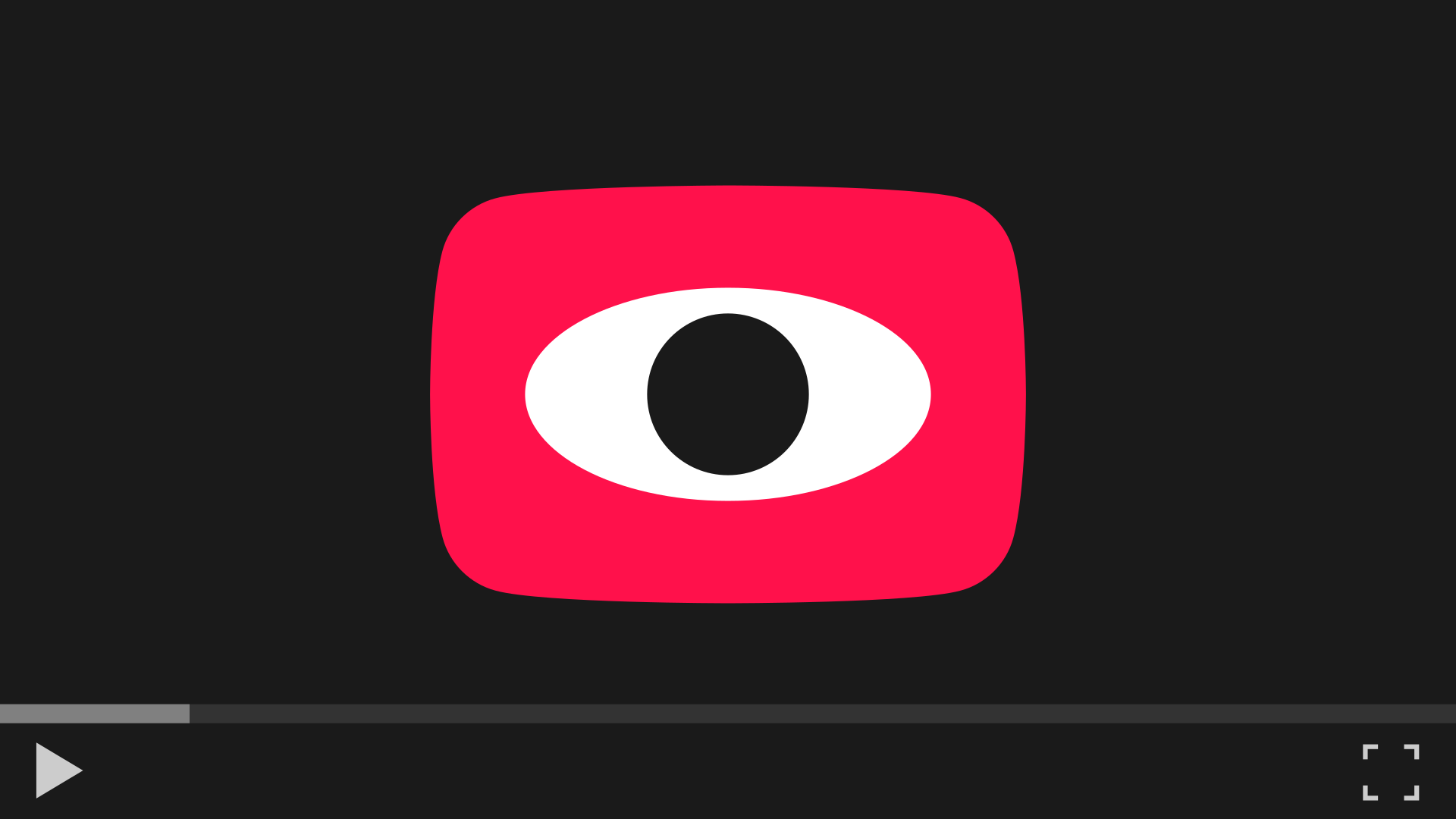 YouTube no-cookie player – Video player with a play button looking back at you.