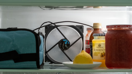 Normalize fridge temperatures by installing a PC fan