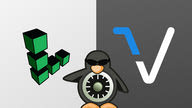 "The Linode logo side-by-side with the Vutr, with the SELinux ""tux"" logo in the foreground between the two."