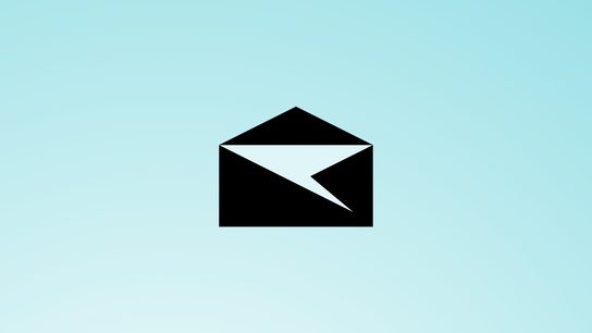 The Outlook Mail (Windows 10 Mail) app icon against a blue background.