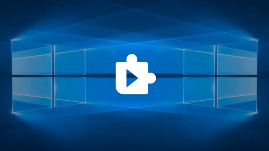 The Web Media Extensions plugin icon with the Windows 10 logo on each side of it.
